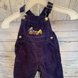 Disney Micky Mouse Overalls Kids 6 M Snap Legs